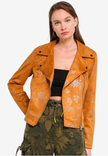 Desigual brown Astrid Biker Jacket FF423AA567C5BEGS_1