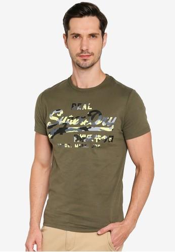 Superdry green Vintage Logo Infill Tee 8E237AA842D4E3GS_1