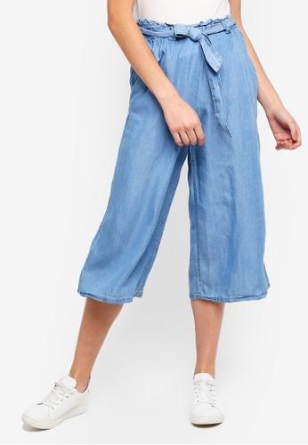 Cotton On blue High Waist Culottes 253ABAA96864FFGS_1