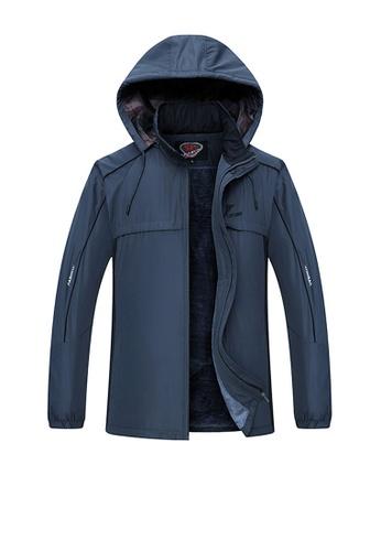 Twenty Eight Shoes blue VANSA  Fashion Men's Plush Cotton Coat VCM-C1918 F65EAAAE0FAF86GS_1