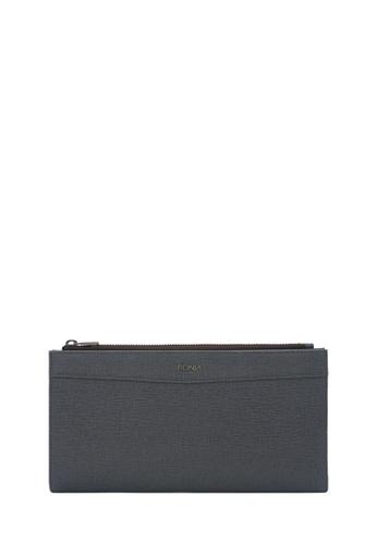 BONIA grey Bonia Gun Metal Betsy Long Two Fold Wallet 82832AC47C8E19GS_1
