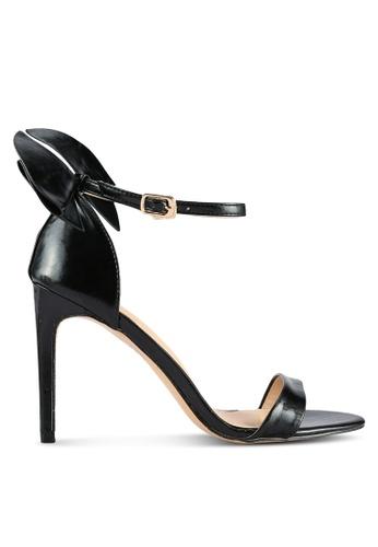 Velvet black Back Bow Open Toe Heel 23169SH4EF0BB8GS_1