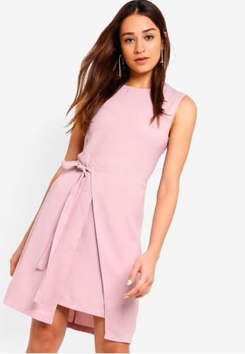 ZALORA pink Self Tie Formal Dress B8111AAA2BAE63GS_1