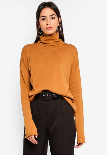 Vero Moda brown Ea High-Neck Knit Jumper D0063AA397422AGS_1
