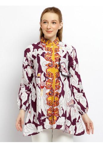 Batik Putra Bengawan white and purple Blouse Puan AE85DAAC81096BGS_1