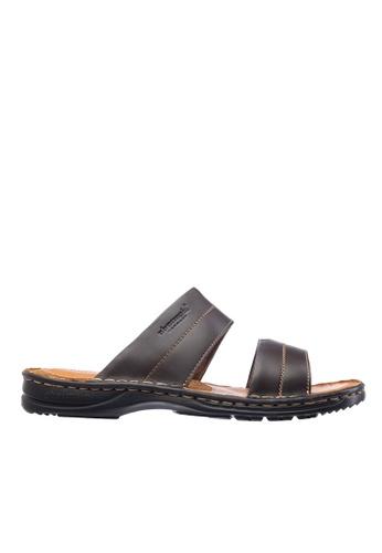 Obermain brown Obermain Men's Galen Harlord Sandal - Dark Brown 70A90SH39517E1GS_1