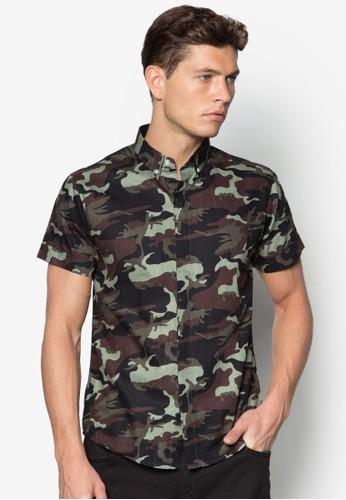 迷彩短袖襯衫, 服飾, esprit 高雄短袖襯衫