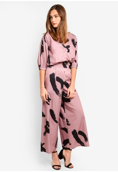 9ac825338eed 10% OFF Megane Best Frenz Nadie Printed Wide Leg Pants RM 149.00 NOW RM  134.00 Sizes S M