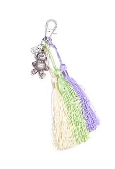 Bear and Tassel Bag Charm Key Chain