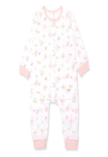 Organic mom pink Organic Cotton Kiity Mouse Lightweight Long Sleeves Pjs 3813EKA4541113GS_1