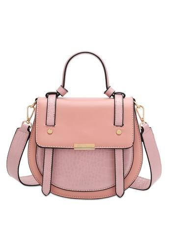 Wild Channel pink Top Handle Flap Crossbody Bag 0D0ECACC994EFBGS_1