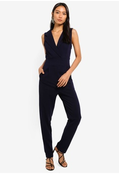 1662f9de168 Mela London navy Tuxedo Top Jumpsuit 8ADDDAA39FDA72GS 1