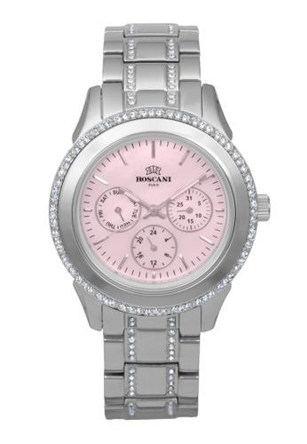 Roscani silver Roscani Danica B37 (Multifunction + WR 5ATM) Stainless Steel Pink Bracelet Women Watch 86151ACC7584DBGS_1