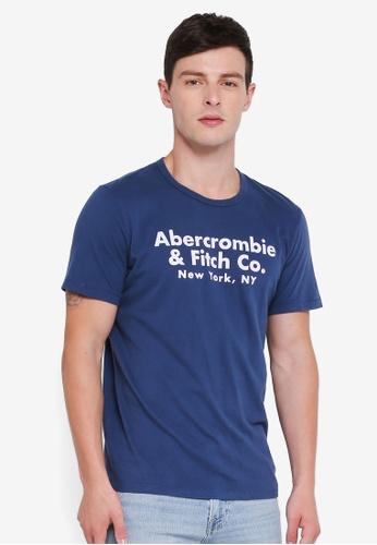 Buy Abercrombie   Fitch Brand Logo T-Shirt Online on ZALORA Singapore 2d1bd499882