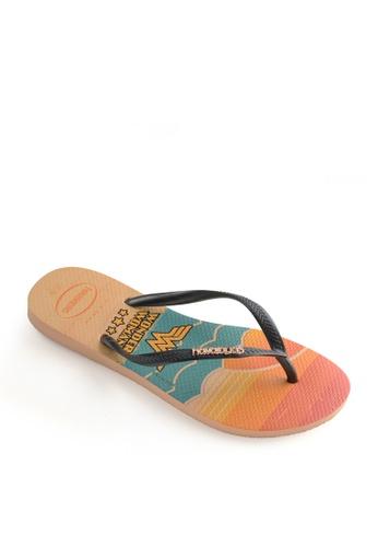 Havaianas pink Slim Heroinas Flip Flops EE3A8SH830BF53GS_1