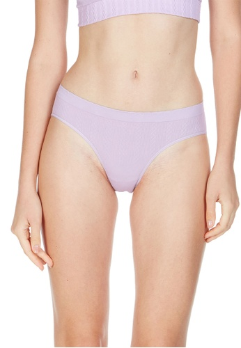 6IXTY8IGHT purple Bombay Solid, Cable Knit Hipster Panty PT10123 D98EBUS9BD0941GS_1