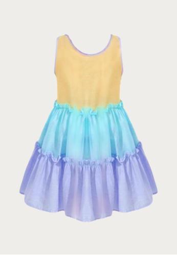 Mommy Hugs multi Frills Dress for Girls 1CFF9KAE92F07BGS_1