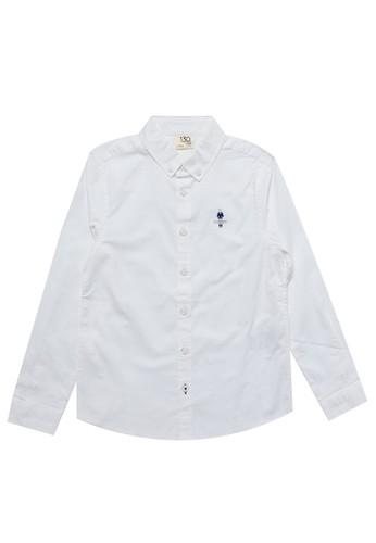 Giordano white Junior Long Sleeve Classic Shirt AD6C5KAC15F3F4GS_1