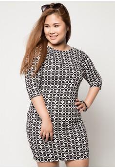 Plus Size Ariana Quarter Sleeve Bodycon Dress