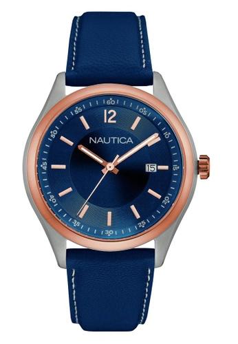 NAUTICA blue Nautica Urban Night & Day Leather Strap NA146AC45OCGSG_1