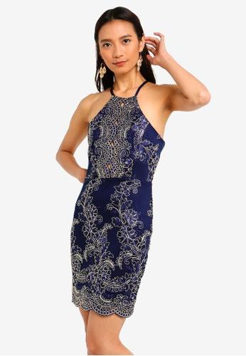 ea3bafc82 Shop INDIKAH Cross Tie Back Lace Dress Online on ZALORA Philippines
