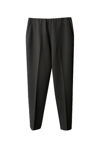 Giordano Ladies black Back Elastic Waist Tight Pants 60F0AAA8621E72GS_1