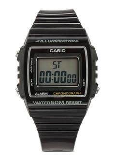 【ZALORA】 W-215H-1AVDF 樹脂男士手錶
