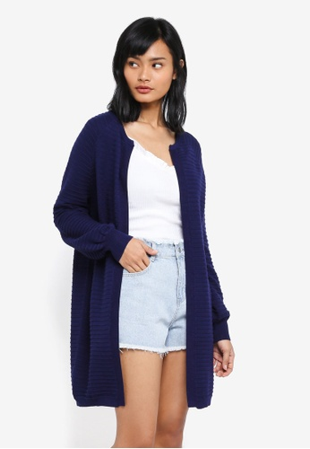 Something Borrowed navy Knitted Relaxed Cardigan 83D3AAA1DF4384GS_1