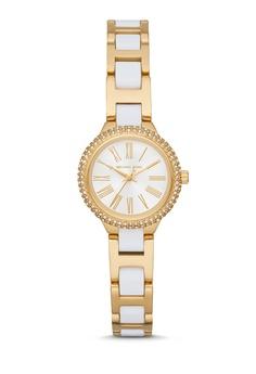 9ebd5102f6473 MICHAEL KORS gold Taryn Gold Tone and White Watch MK6581 5C50BAC00BA498GS 1