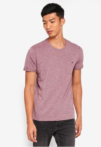 Burton Menswear London red Summer Burgundy Grindle T-Shirt 9F885AAE4F2EA6GS_1