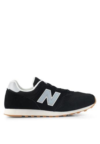 New Balance black 373 Modern Classics Lifestyle Sneakers NE323SH0SVD7MY_1