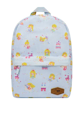 Ripples blue Fairies Digital Print Mid Sized Kids School Backpack F770BKCC4613CAGS_1