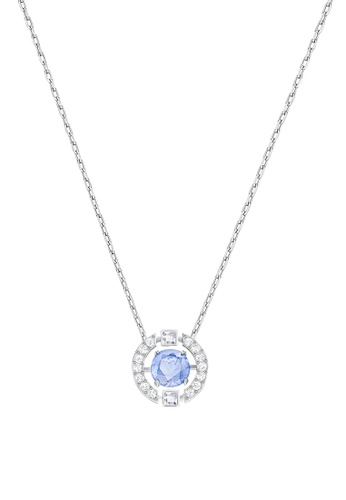Swarovski blue and gold Sparkling Dance Necklace 7681AAC3D73AC7GS_1