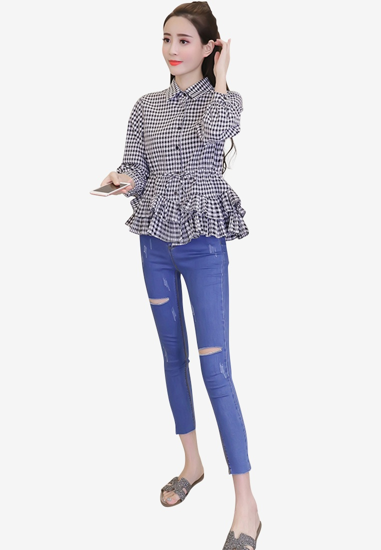 multi Plaid Women Shirt ehunter hk XqwapxgIw