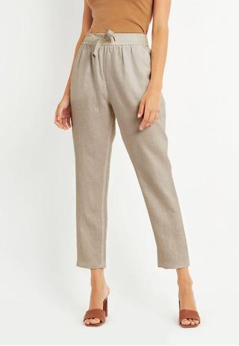 FORCAST beige FORCAST Thalia Linen Pants 947F4AA4351744GS_1