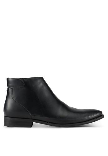 ZALORA black Faux Leather Chelsea Boots 1C2EBAAEB97A38GS_1