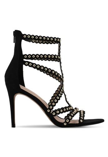 ALDO black Gisel Heeled Sandals 8ECC0SH1C9A32FGS_1