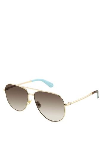 Kate Spade gold Isla/G/S Sunglasses DEBF8GL22E18A9GS_1