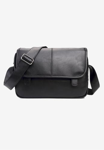 Lara black Plain Flap Zipper Messenger Bag - Black 35F3DAC09C2853GS_1