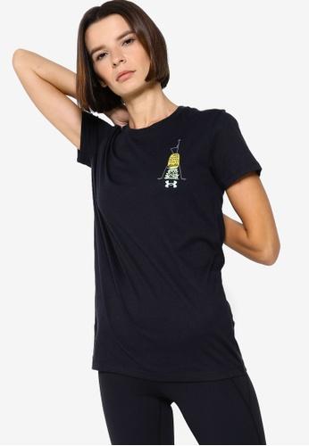 Under Armour 黑色 UA Summer Graphic Short Sleeve T-Shirt 625B2AAA800460GS_1