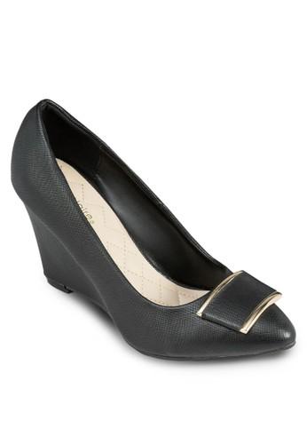 Gen 金esprit outlet台北飾尖頭楔型跟鞋, 女鞋, 中跟