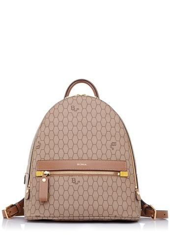 BONIA brown Medium Brown Honeycomb Backpack L D93A8AC08710D0GS_1