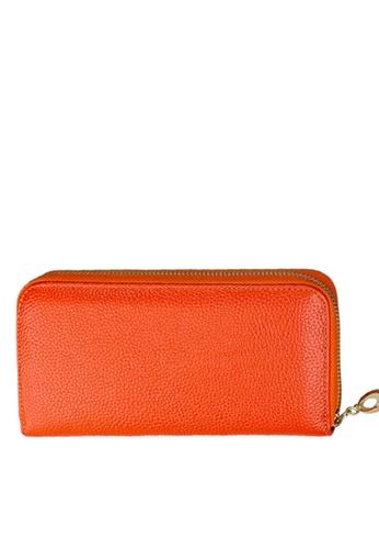 Twenty Eight Shoes orange VANSA Top Layer Cowhide Bi-Fold Long Wallet VBW-Wt906 F189AAC5BEA5C2GS_1