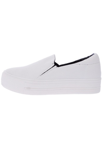 Maxstar C7 30 Synthetic Leather White Platform Slip on Sneakers US Women Size MA168SH54DYFHK_1