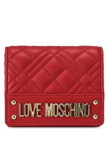 Love Moschino red Diamond Quilted Bi-Fold Purse 7F62FAC0867E84GS_1