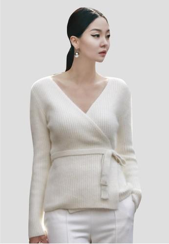 包裹式兔毛針織上衣,esprit暢貨中心 服飾, 毛衣& 針織外套