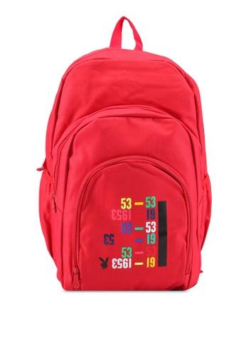 Playboy red Playboy Backpack PL371AC0SJZ6MY_1