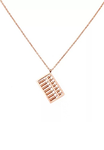 CELOVIS gold CELOVIS - Fortune Abacus Pendant Necklace in Rose Gold F26C2ACC96DEDAGS_1