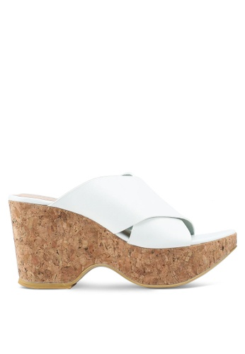 Nose 白色 交叉繞帶楔型鞋 871E5SH4E7D4D8GS_1