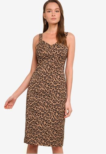 Banana Republic brown Print Bi-Stretch Sheath Dress 3E6CEAAF0BCE02GS_1